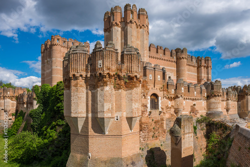 Photo Stands Castle Coca Castle, Segovia Province, Castile-Leon (Spain)