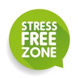 Stress Free Zone vector label