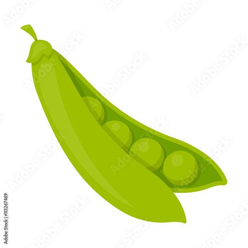 Fotografía  Peas icon cartoon. Singe vegetables icon from the eco food set.