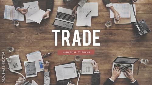 Trade Swap Deal Exchange Merchandise Commerce Concept Canvas Print