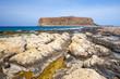 View of the beautiful beach in Balos Lagoon, Crete