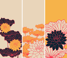 A Set Of Asian Style Floral Bo...