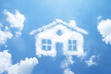 Clouds Shape Like House.