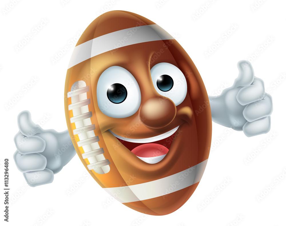 Photo  Cartoon Football Ball Character