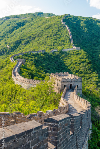 Photo Stands Beijing Great Wall of China