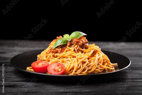 Obraz na płótnie Traditional spaghetti bolognese