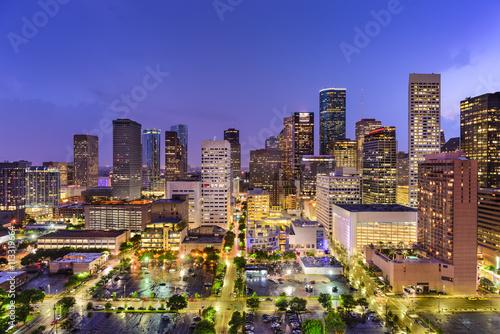 fototapeta na lodówkę Houston Texas Skyline