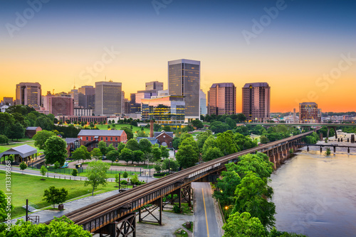 Tablou Canvas Richmond, Virginia, USA Skyline