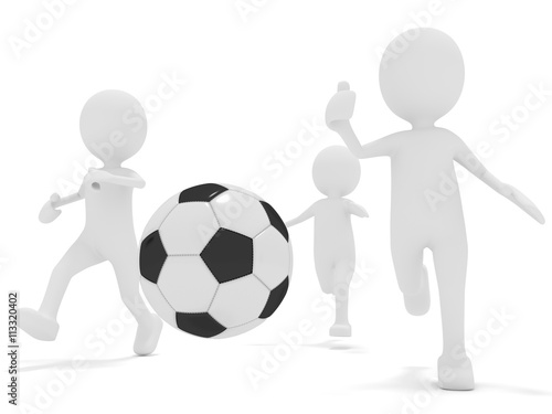 Fotografiet  Fußball-Spieler