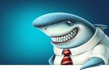 Illustration Of Business Shark...