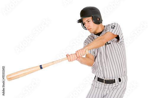 Fotografie, Obraz  Baseball: Player Swinging Bat