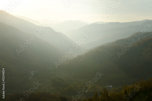 Fototapety, obrazy: Northern of Thailand, Morning, Mountain