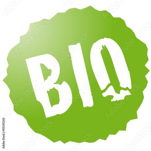 фотография  Bio, grünes Schild, Button, Aufkleber