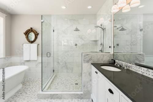 Beautiful Master Bathroom With Shower Bathtub And Sink In New New Beautiful Master Bathrooms Property