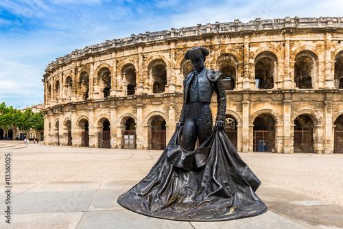 Fotografie, Obraz  Arènes de Nîmes en Languedoc, Occitanie