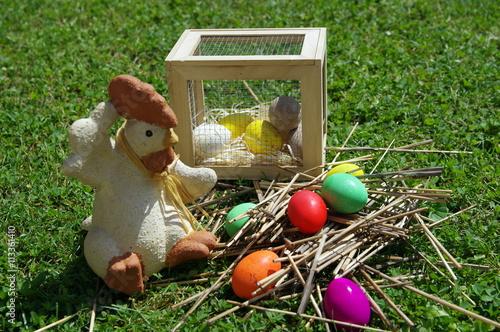 Vászonkép œufs de couleurs