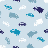 Seamless pattern - car, truck
