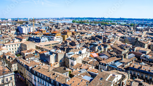 Tuinposter Zalm Cityscape of Bordeaux in France
