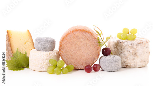 Staande foto Zuivelproducten collection of french cheese