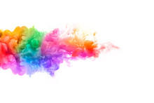 Rainbow Of Acrylic Ink In Wate...