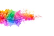 Rainbow Of Acrylic Ink In Wate...