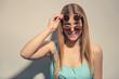 Leinwanddruck Bild - Funny summer girl