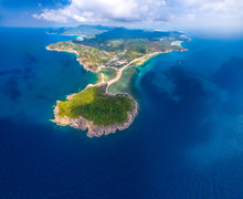 Panoramic Aerial Tropical Island View Koh Phangan Thailand