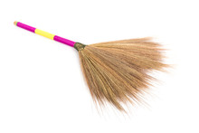 New Broom Grass Isolated On Wh...