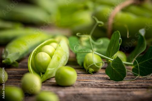 Hearthy fresh green peas Fototapet