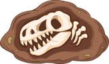 Fototapeta Dinusie - Cartoon head dinosaur fossil