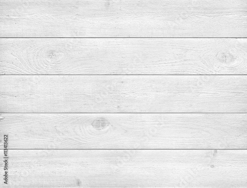 Poster Bois White wood texture background.