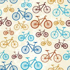 Tapeta Pattern of bicycles