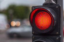 Red Traffic Light In The City ...