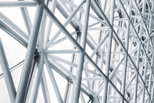 Architecture Detail Modern Glass Facade Metal Structure