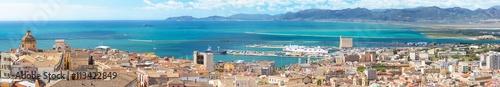 Photo  Panoramic view of Cagliari capital of Sardinia