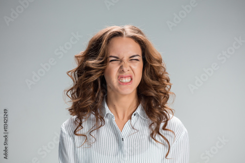 Fotografie, Tablou  The portrait of disgusted woman