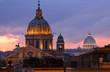 Rome City night view, Italy.