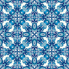 Abstract seamless ornamental vector pattern