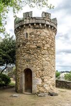 Medieval Tower Or Castle In Santa Cruz, Spain