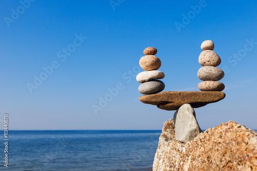 Fotografia  Concept of harmony and balance. Balance and poise stones.