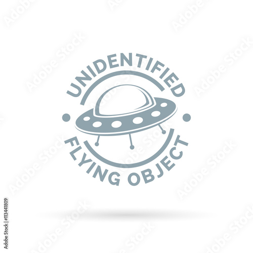 Foto op Canvas UFO UFO icon. Unidentified flying object sign. Flying saucer spaceship symbol. Vector illustration.