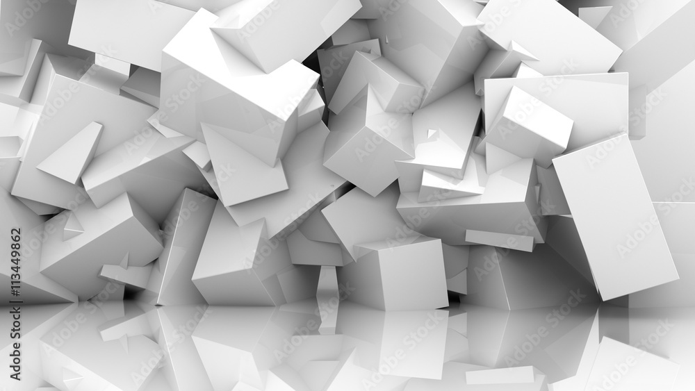Fototapety, obrazy: abstract white background