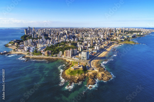 Photo sur Toile Brésil Aerial view of Salvador da Bahia cityscape, Bahia, Brazil.