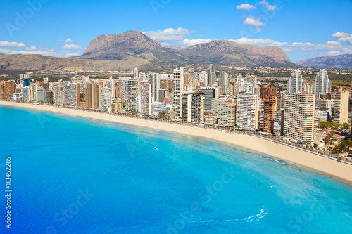 benidorm levante beach aerial view