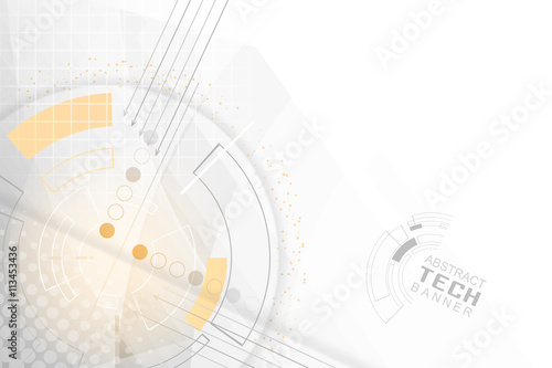 Fotografie, Obraz  Technological abstract background