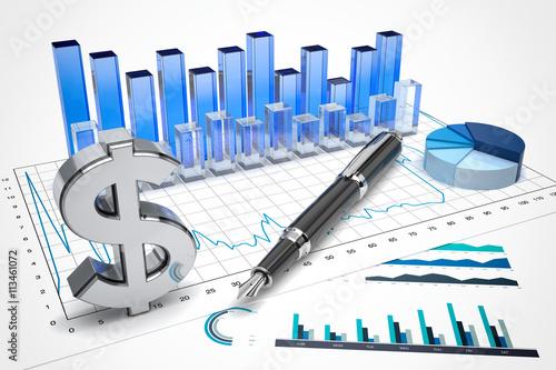 Fotografie, Obraz  Dollar stock trading concept