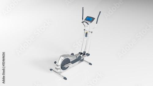 Fotografie, Obraz  Gym stepper, workout step machine, sports equipment isolated on white background
