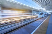 High-speed Train At The Railwa...