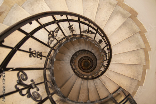 spiral staircase in an old house