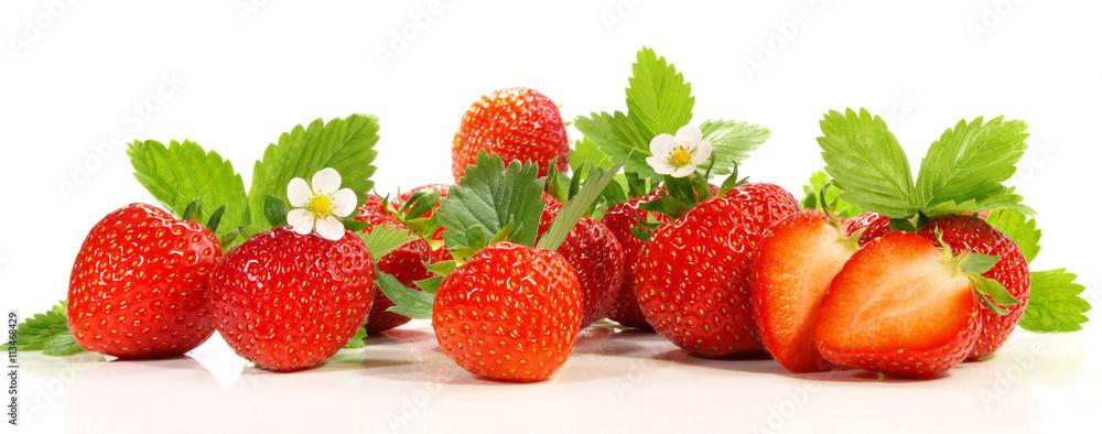 Fototapety, obrazy: Erdbeeren - Panorama